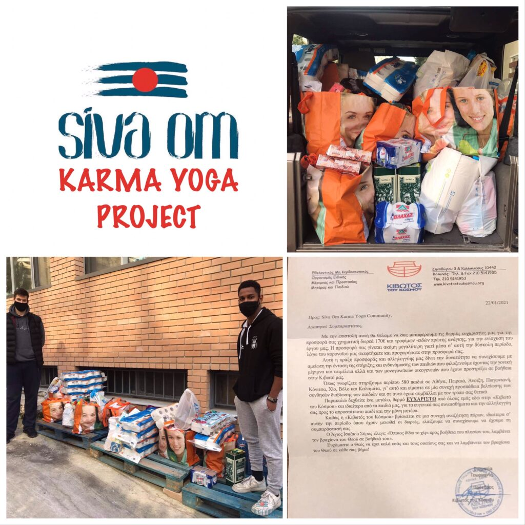 philanthropy done by sivaom yoga under the karma yoga project
